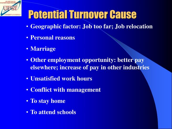 Potential Turnover Cause