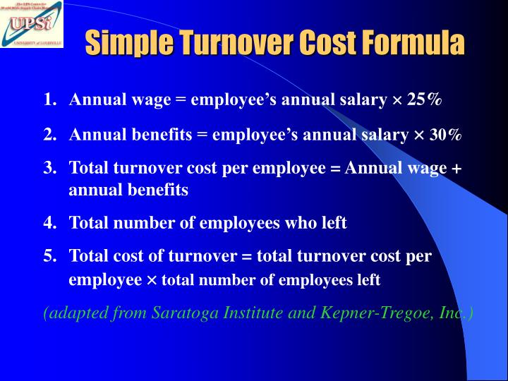Simple Turnover Cost Formula