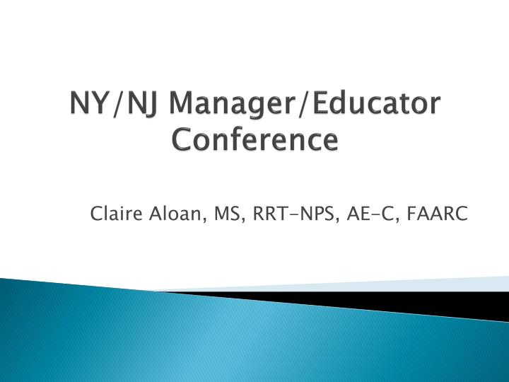 ny nj manager educator conference