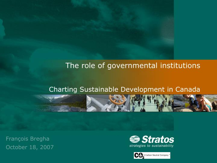 The role of governmental institutions