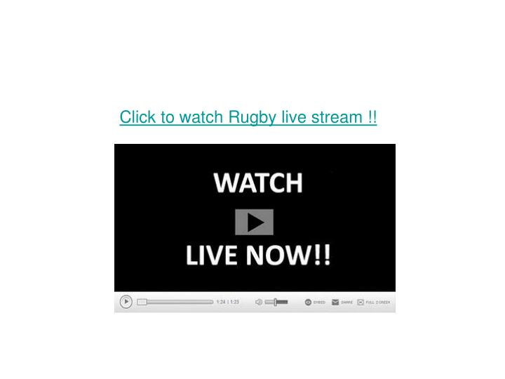 Click to watch rugby live stream