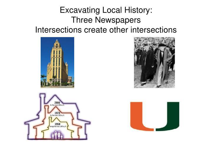 Excavating Local History: