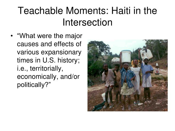 Teachable Moments: Haiti in the Intersection