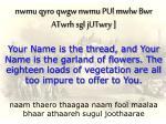 naam thaero thaagaa naam fool maalaa bhaar athaareh sugul joothaarae