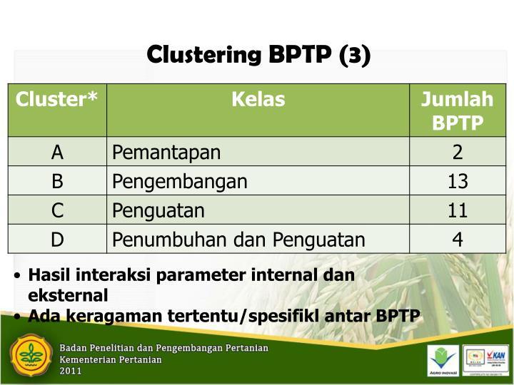 Clustering BPTP (3)