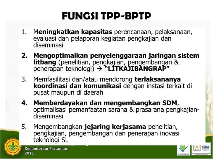 FUNGSI TPP-BPTP