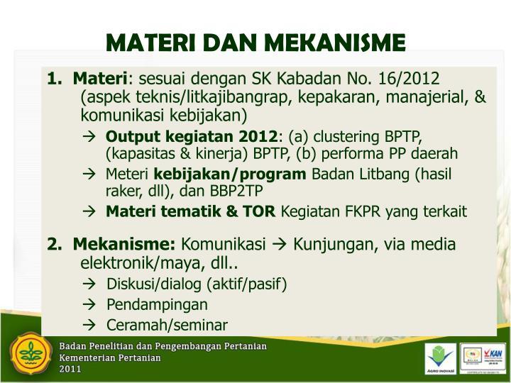 1.  Materi