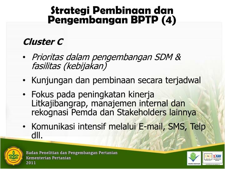 Strategi Pembinaan dan Pengembangan BPTP (