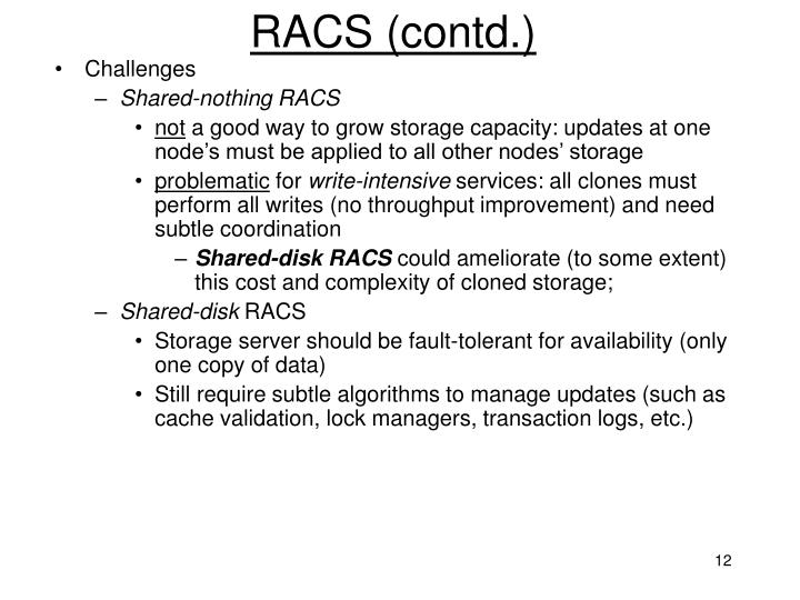 RACS (contd.)