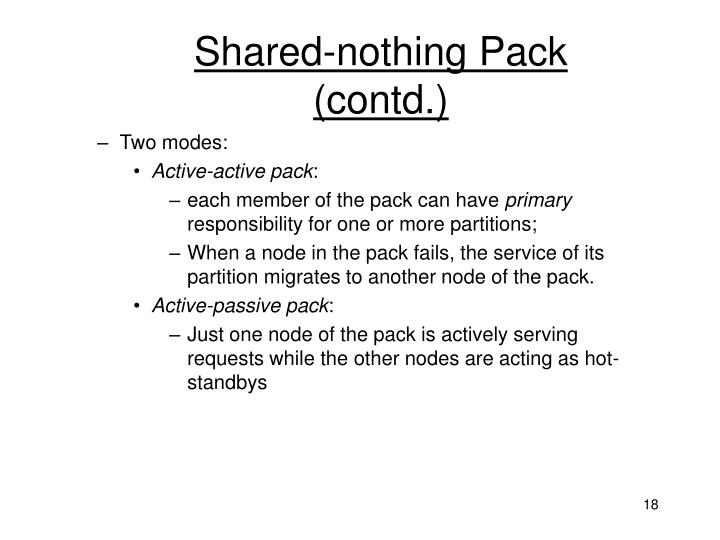 Shared-nothing Pack (contd.)