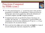 functions computed by fsms cont2