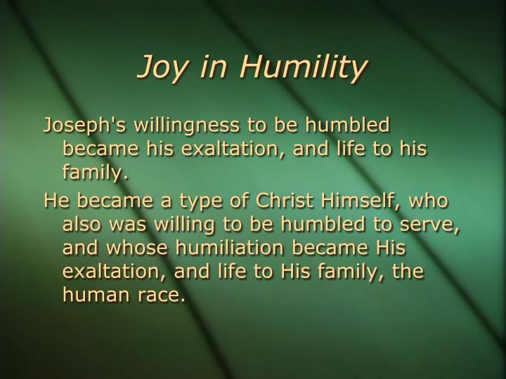 Joy in Humility