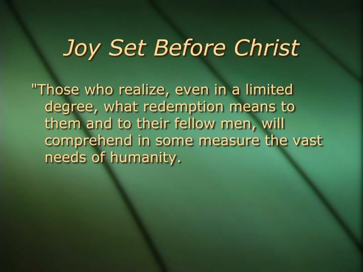 Joy Set Before Christ