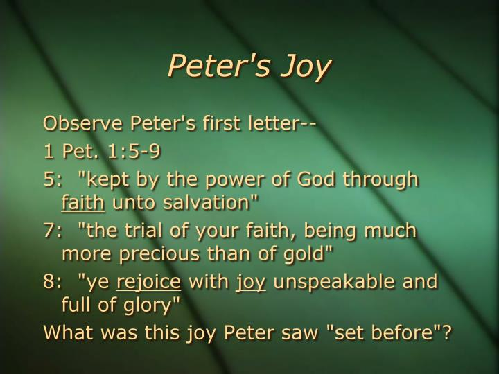 Peter's Joy