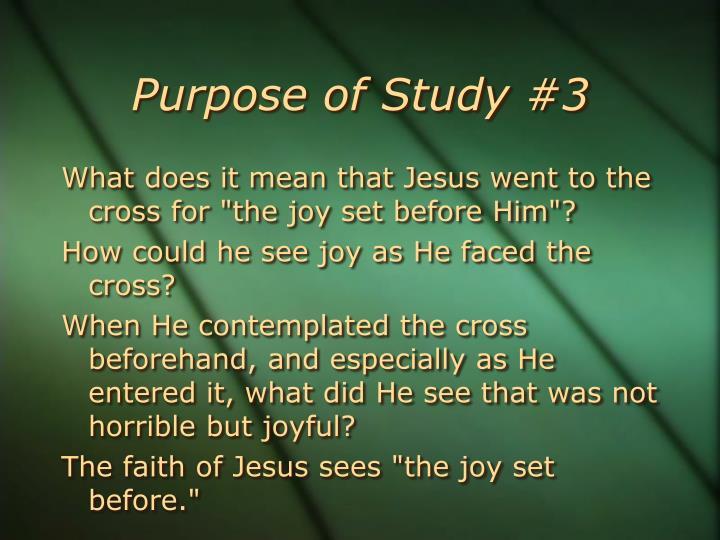 Purpose of Study #3