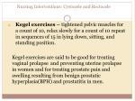 nursing interventions cystocele and rectocele2