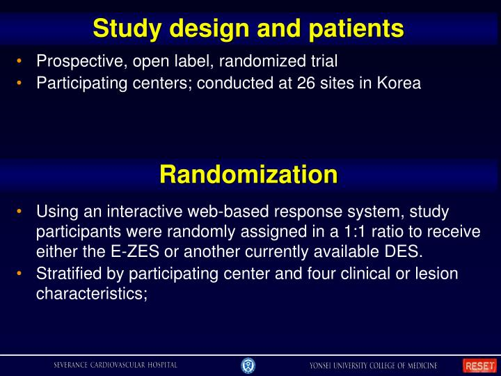 Study design and patients