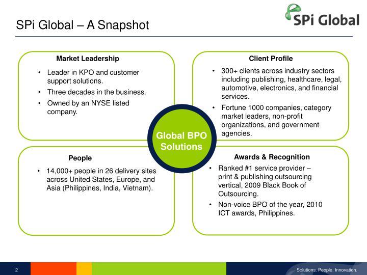 SPi Global – A Snapshot