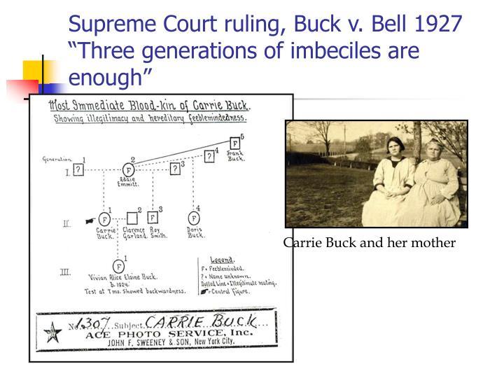 Supreme Court ruling, Buck v. Bell 1927