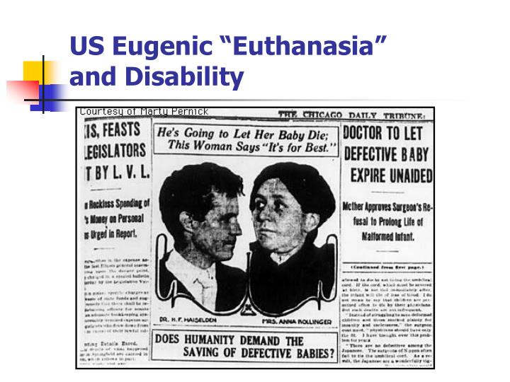 """US Eugenic """"Euthanasia"""""""