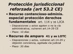 protecci n jurisdiccional reforzada art 53 2 ce