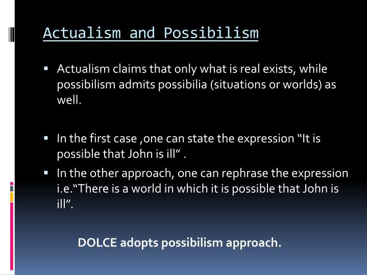 what is possibilism