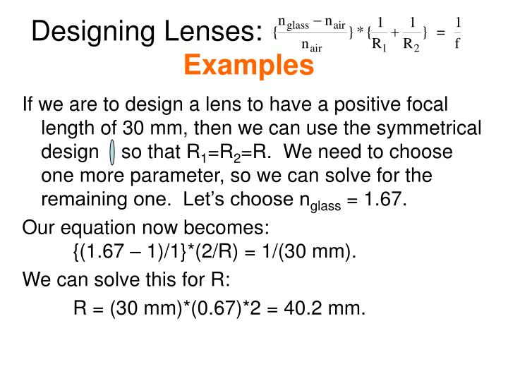 Designing Lenses: