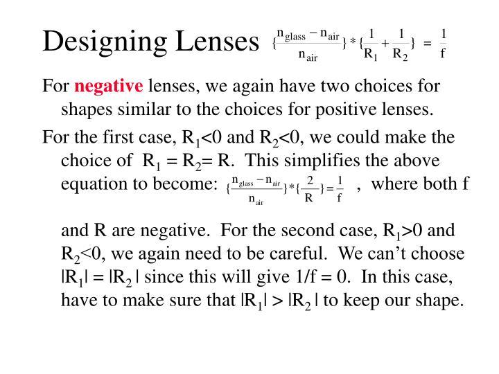 Designing Lenses