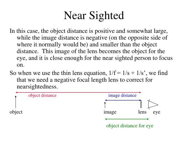 Near Sighted