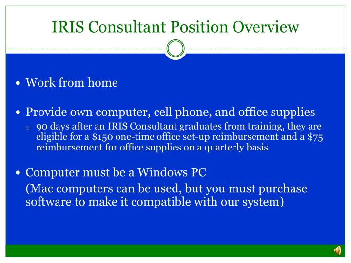 IRIS Consultant Position Overview