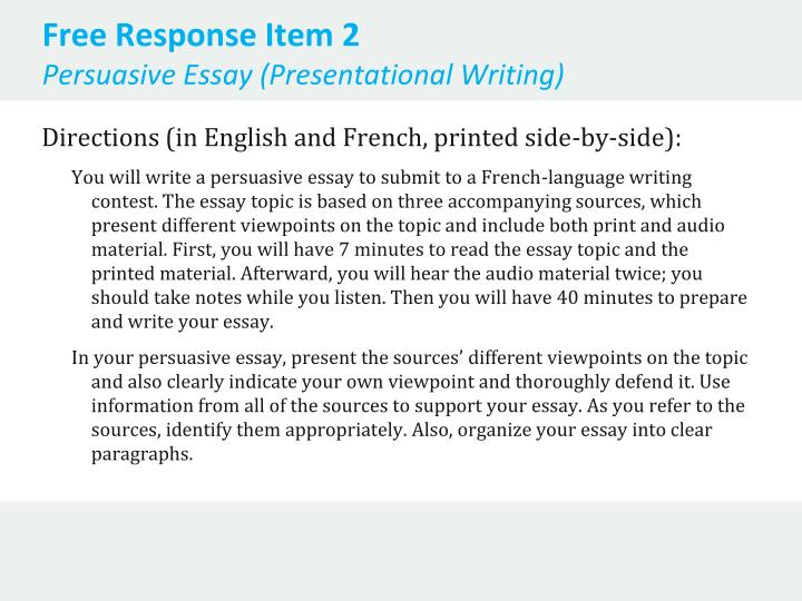 persuasive essays written students