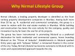 why nirmal lifestyle group