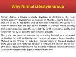 why nirmal lifestyle group