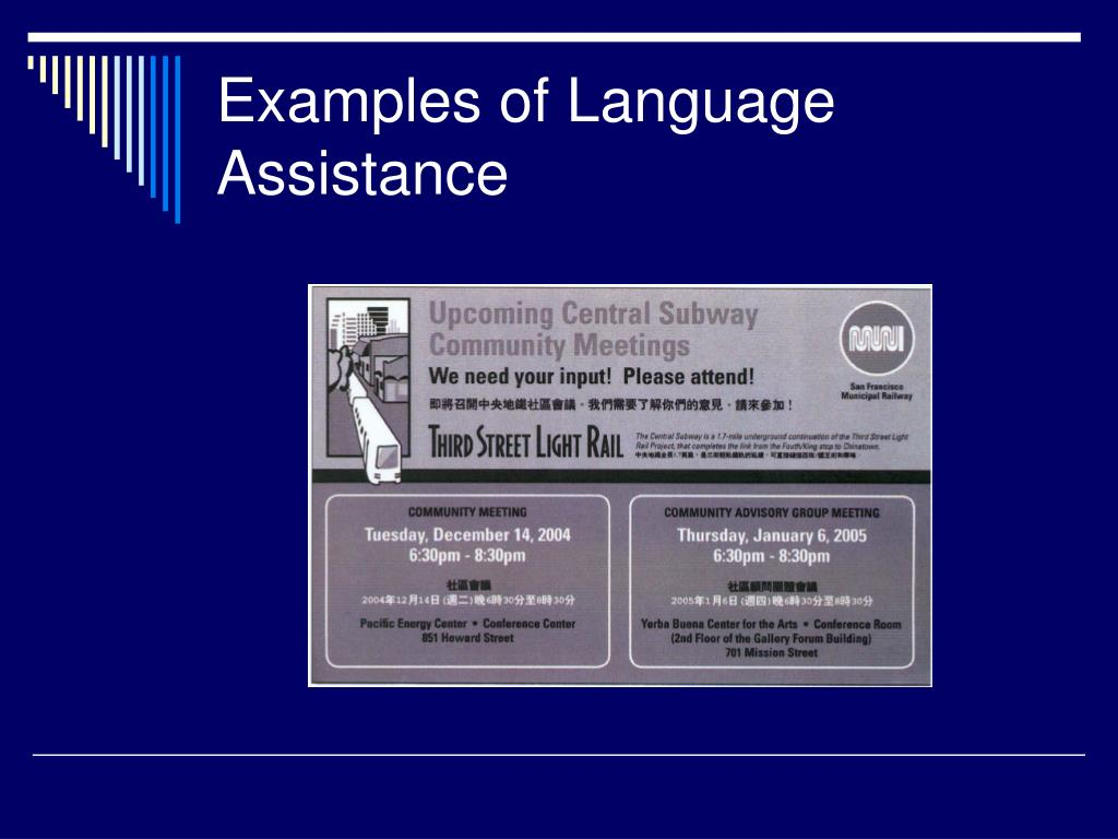 PPT - Providing Language Access to Persons with Limited English