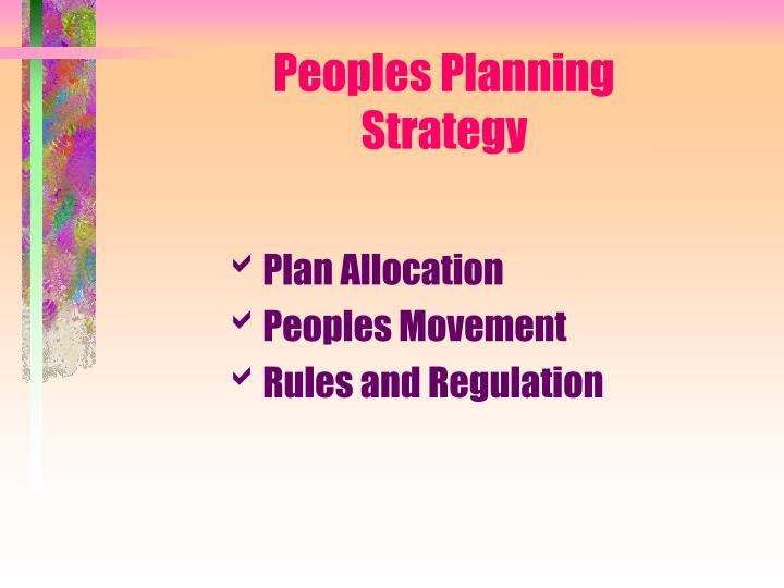 Peoples Planning