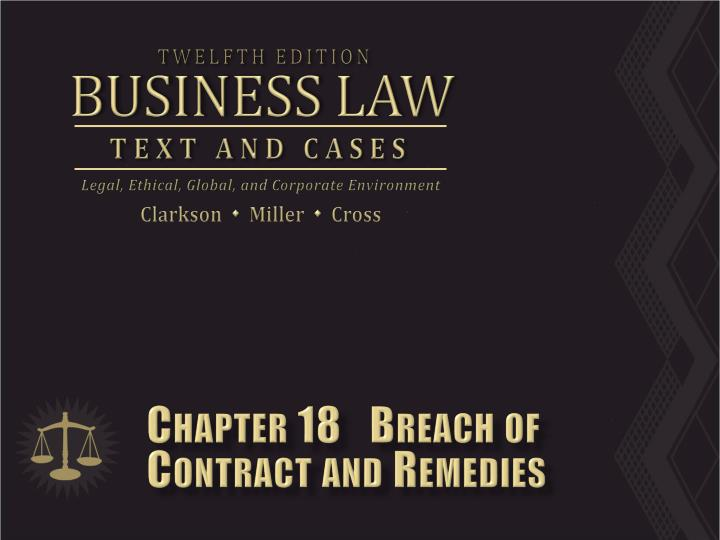 chapter 18 breach of contract and remedies n.
