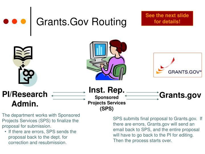 Grants gov routing