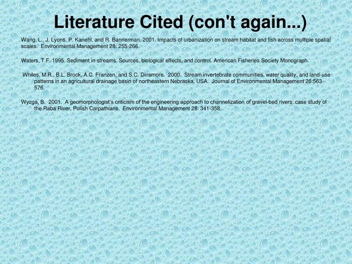Literature Cited (con't again...)
