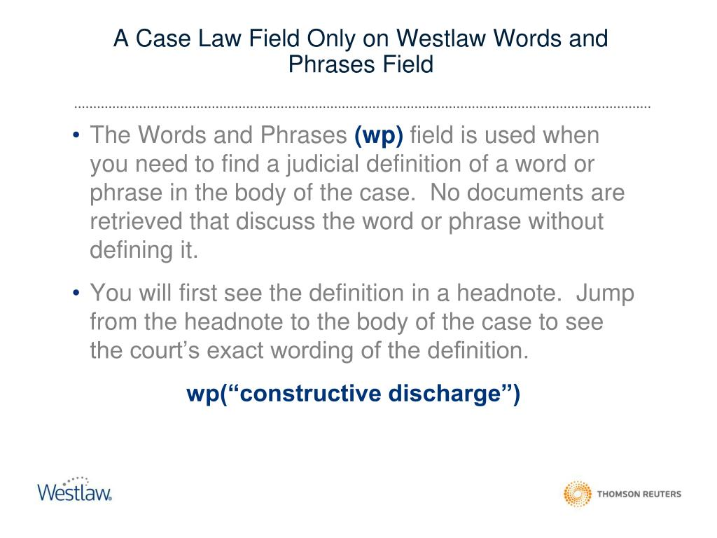 PPT - TERMS and CONNECTORS SEARCHING ON WESTLAW PowerPoint