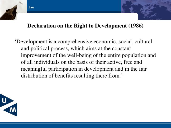 Declaration on the Right to Development (1986)