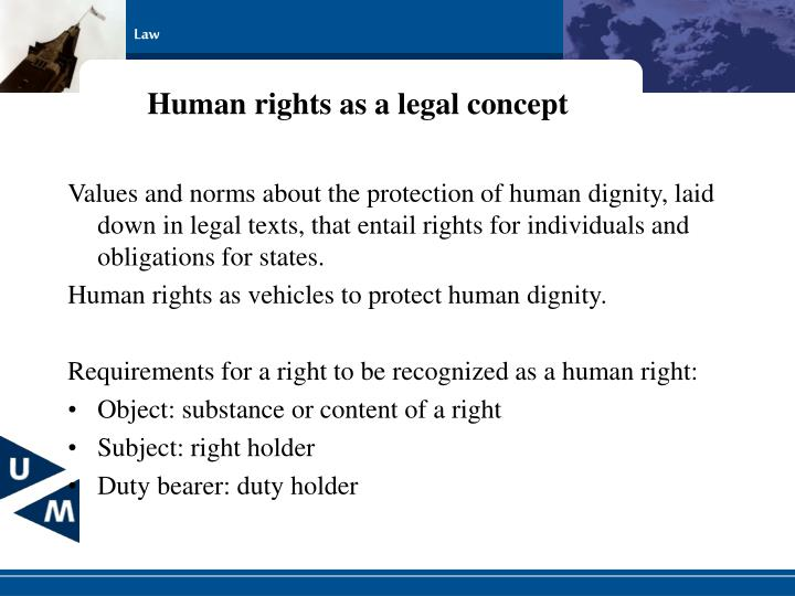 Human rights as a legal concept