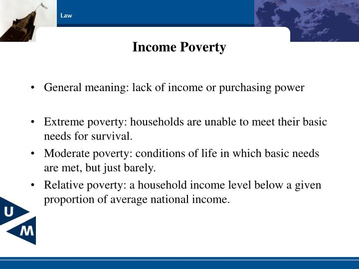 Income Poverty