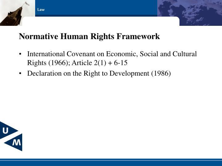 Normative Human Rights Framework
