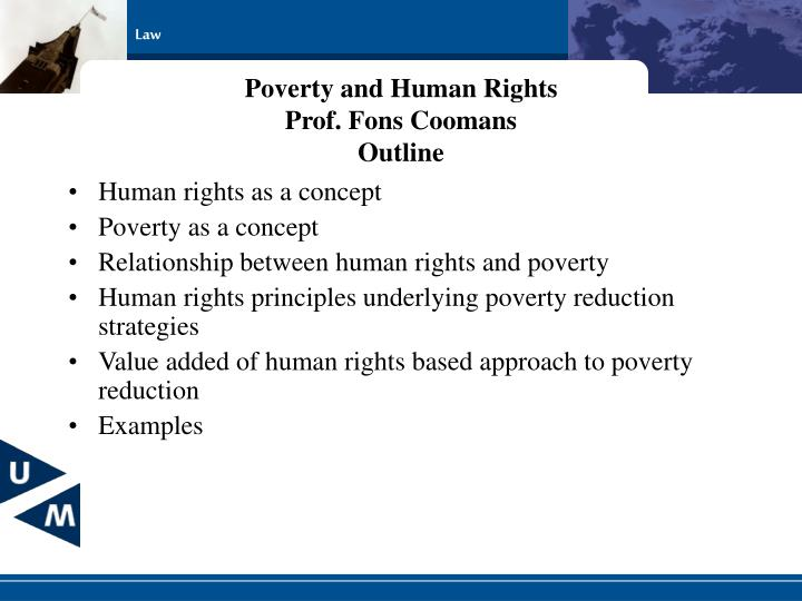 Poverty and human rights prof fons coomans outline