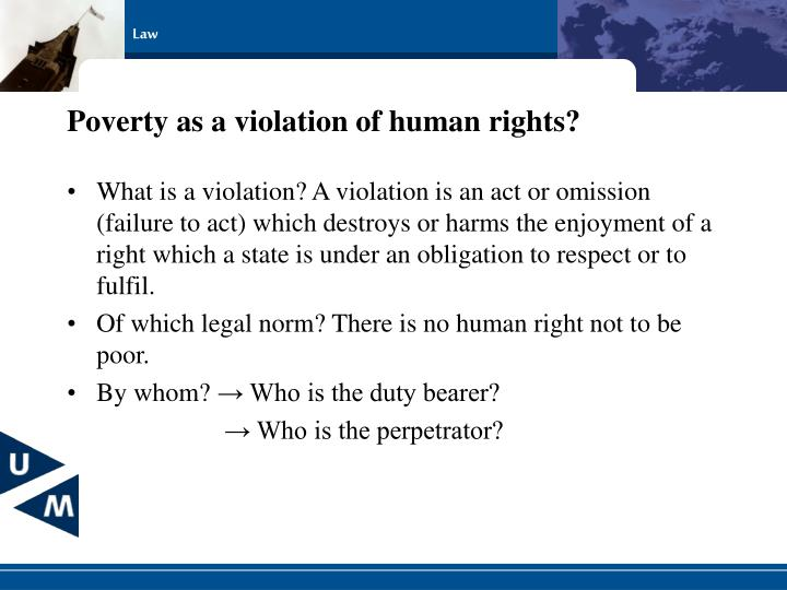 Poverty as a violation of human rights?
