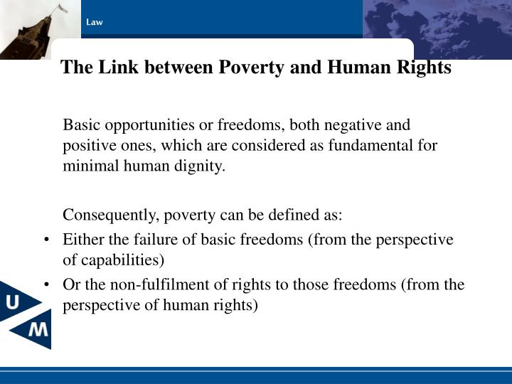 The Link between Poverty and Human Rights