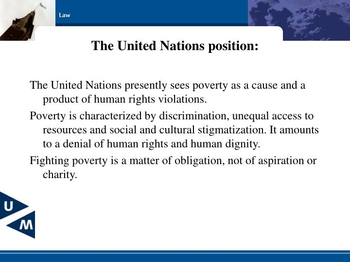 The United Nations position: