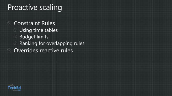 Proactive scaling