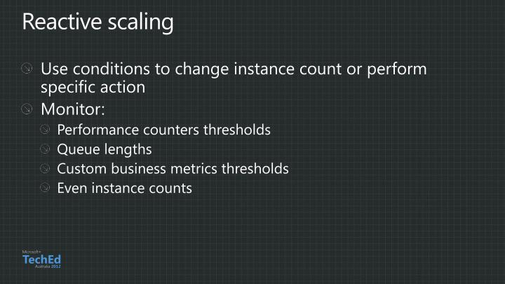 Reactive scaling