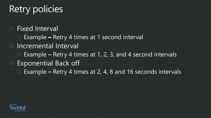 Retry policies